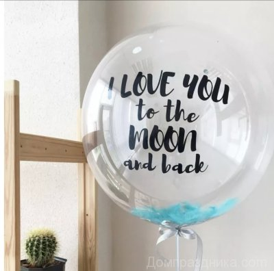 I love to the moon and back